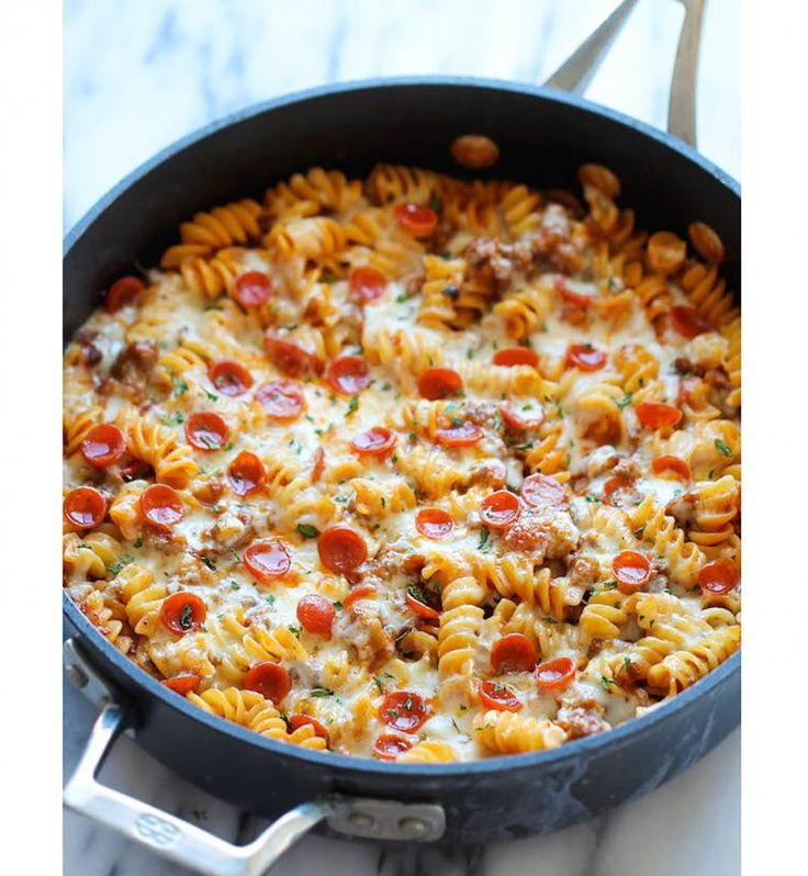 One Pot Pasta: Des pâtes façon pizza aux pepperonis