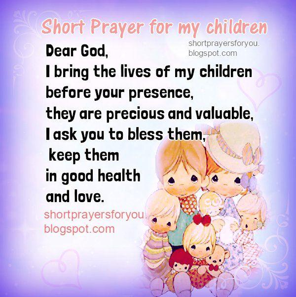 short prayer students  children