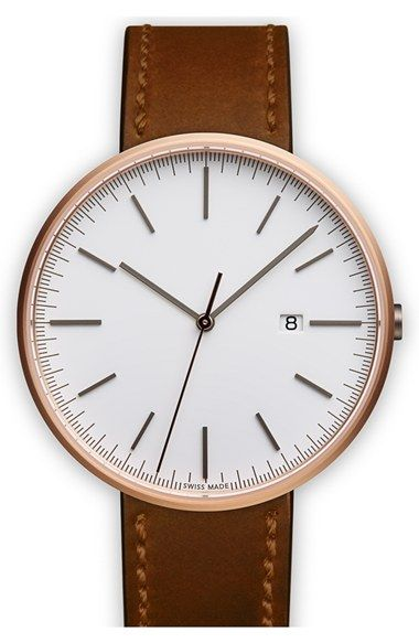 Uniform Wares Leather Strap Watch, 40mm available at # ...