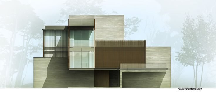 Front Elevation Design In Revit : Villa exterior elevation visualizing architecture misc