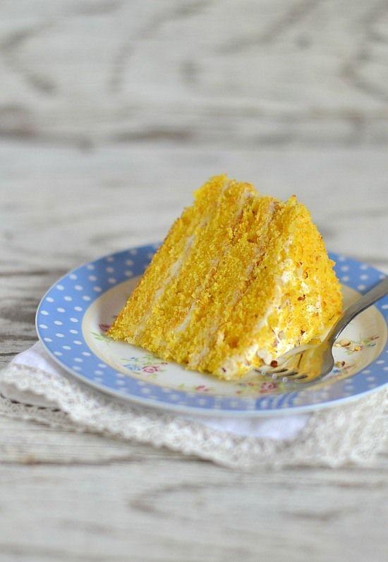 тыквенно-апельсиновый торт