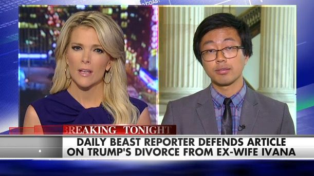 'You're Not Answering My Question': Megyn Kelly Grills Daily Beast Reporter Over Controversial Story About Rape Allegations Trump's Ex-wife Ivana Made Against Him.