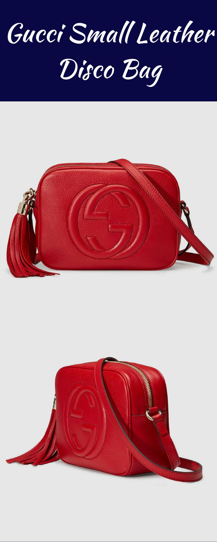 Gucci Small Leather Disco Bag. Best accessory for a night out! #affiliate