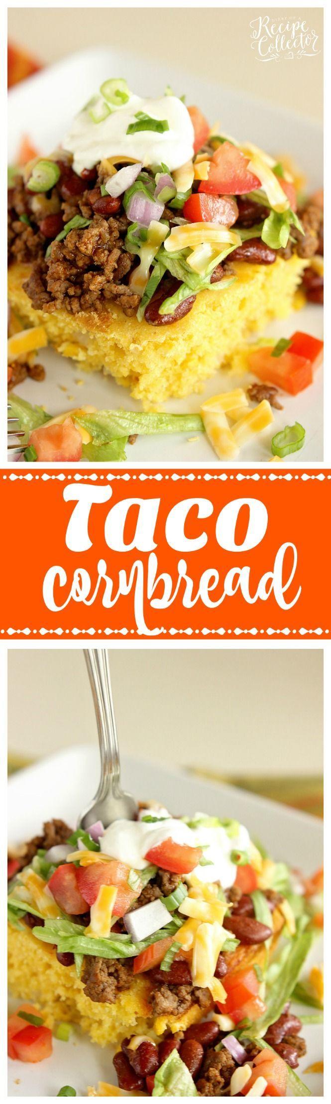 Taco Cornbread - Change up your taco night using cornbread for a delicious new twist!