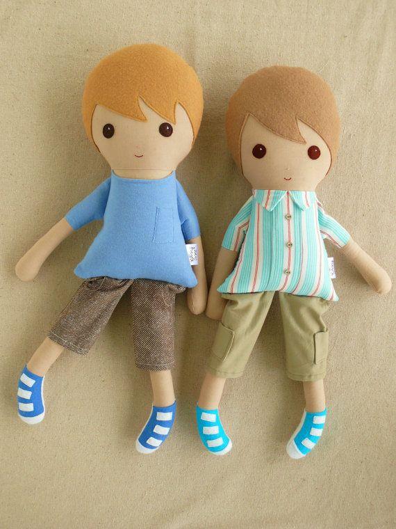 Custom Listing for Linda Fabric Dolls Rag Dolls by rovingovine