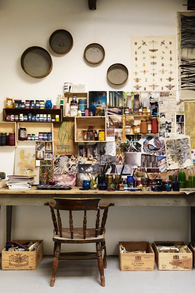 Chiara Grifantini | Hand Painted Textiles | Studio Tour (houseandgarden.co.uk)