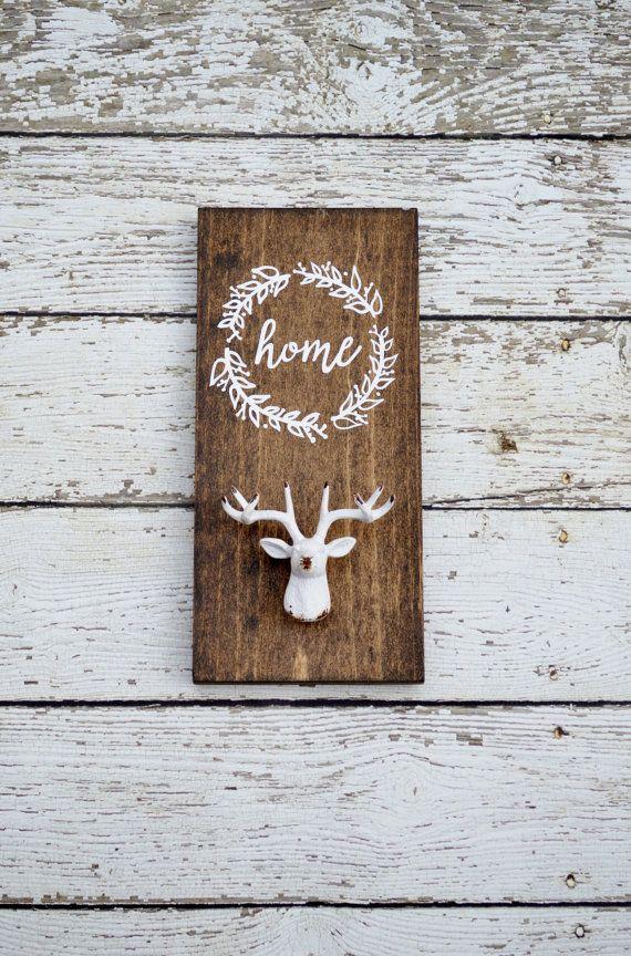 deer antler decor coat hook antler home decor by YeeHawHello