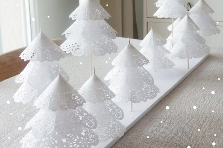 Diy Doily Paper Christmas Tree Tutorial