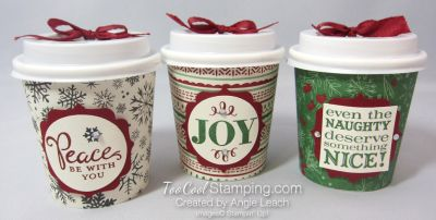 3 Cool Mini Coffee Cups  Learn how to create them at www.TooCoolStamping.com