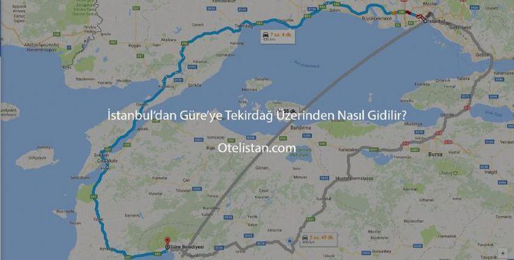 İstanbul Tekirdağ Üzerinden Güre'ye Nasıl Gidilir?  Güre'ye Tekirdağ üzerinden gitmek en keyifli alternatiftir. Saroz körfezinden sonrası Güre'ye kadar yolculuğun nasıl geçtiği anlaşılmaz denilebilir. Özellikle kaz dağlarından geçerken mis gibi tertemiz havayı solumak, kaz dağında süper manzara eşliğinde küçük bir çay molasında körfezi seyretmek ayrıcalıktır.