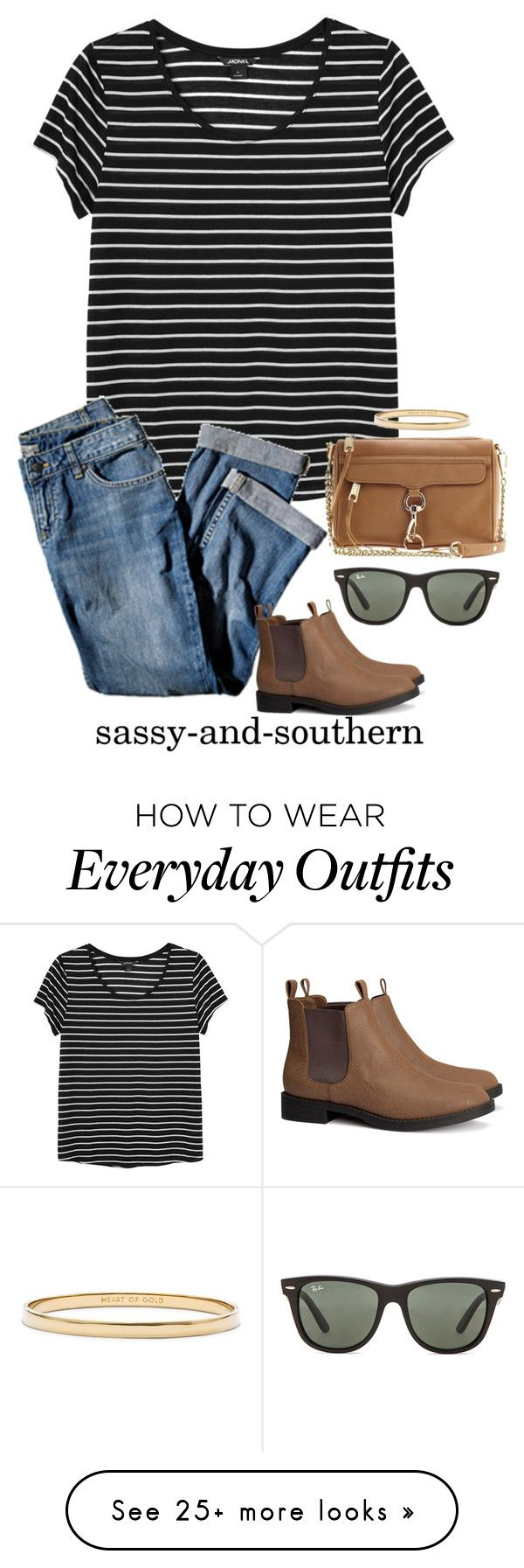 """fall outfit"" by sassy-and-southern on Polyvore featuring Monki, Rebecca Minkoff, J.Jill, Ray-Ban, H&M, Kate Spade and sassysouthernfall"