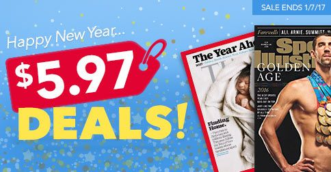 From healthy cooking to fitness, fashion, entertainment and more, you'll love these amazing $5.97 deals on magazine subscriptions!