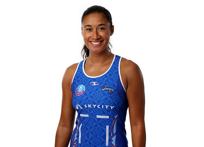 Northern Mystics Maria Tutaia wearing the uniform designed by Native Council www.nativecouncil.co.nz #nativecouncil #SkyCityNorthernMystics #NorthernMystics #MysticsNations