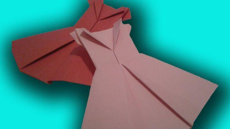 Origami jurk vouwen
