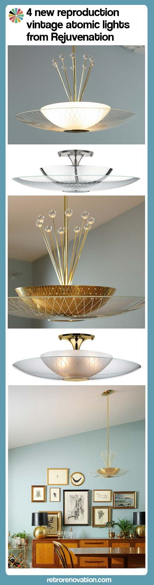 Breaking News: 4 new reproduction vintage atomic lights from Rejuvenation — Retro Renovation