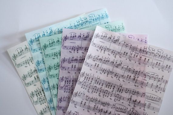 3 sheets sheet music wafer paper (choose one color) for cake decorating or cupcake decorating. Paper for wafer paper flowers.