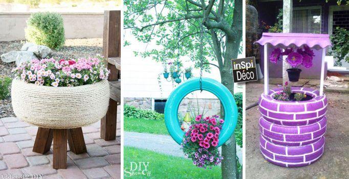 Pneus En Jardinières sur Pinterest  Pots de fleurs, Jardin aux pneus ...