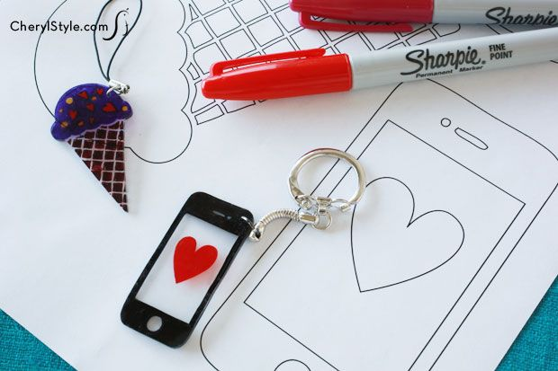 create your own Shrinky Dinks jewelry & accessories with our templates & artwork cherylstyle.com