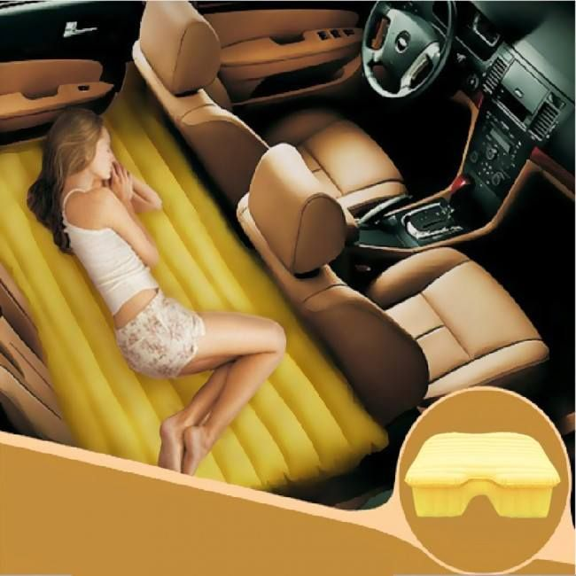 Inflatable Backseat Car Bed - Take My Paycheck - Shut up and take my money! | The coolest gadgets, electronics, geeky stuff, and more!