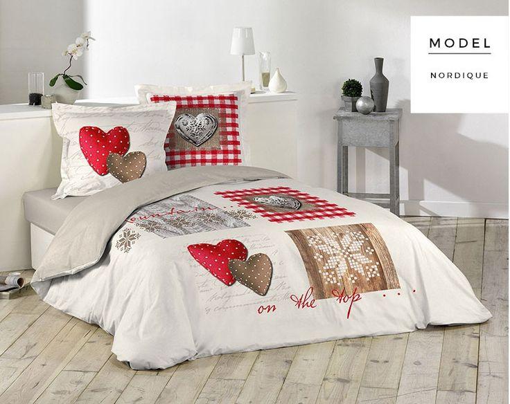 Bavlnené biele posteľné návliečky so srdcami