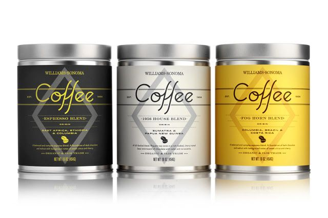 Williams-Sonoma Coffee Blends on Packaging of the World - Creative Package Design Gallery