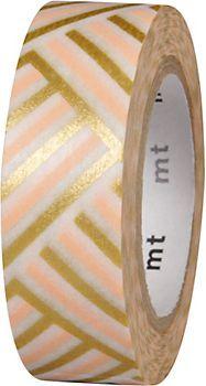 Corner Peach Washi Tape