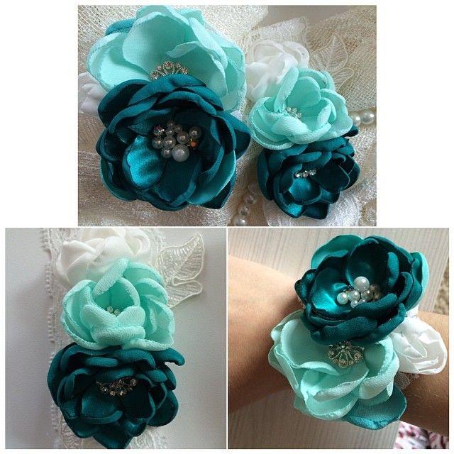 Подвязка на ногу для невесты и браслет для подружки