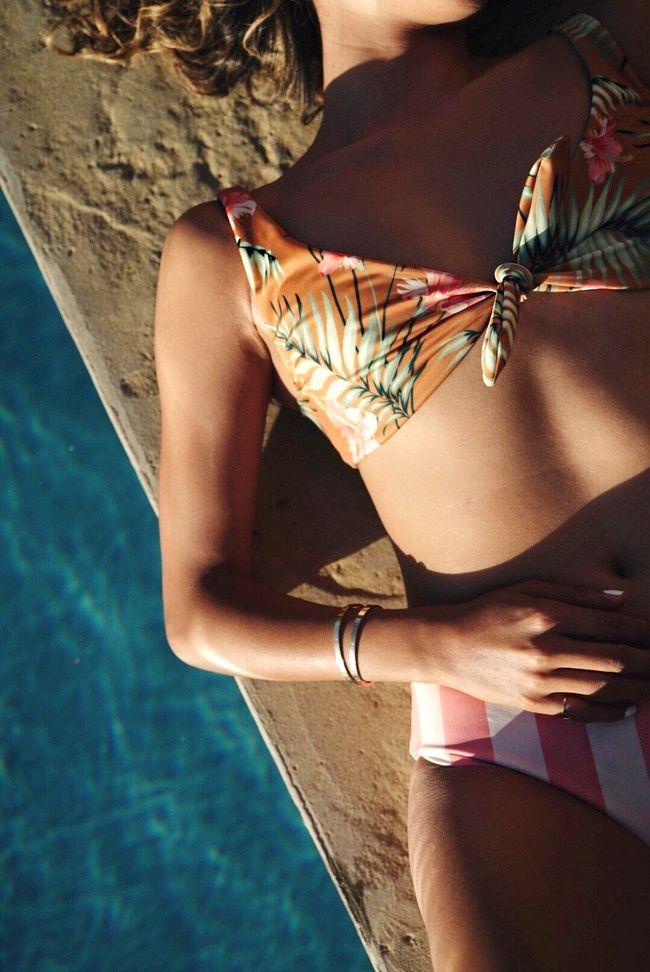 En matière de bikinis, le mix and match fonctionne très bien ! (photo Sincerely Jules)