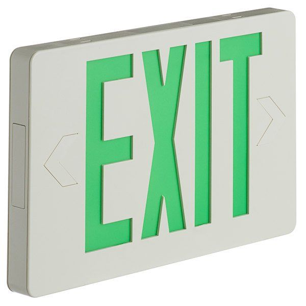 Lavex Industrial Slim Green Led Exit Sign With In 2020 Green Led Exit Sign Led