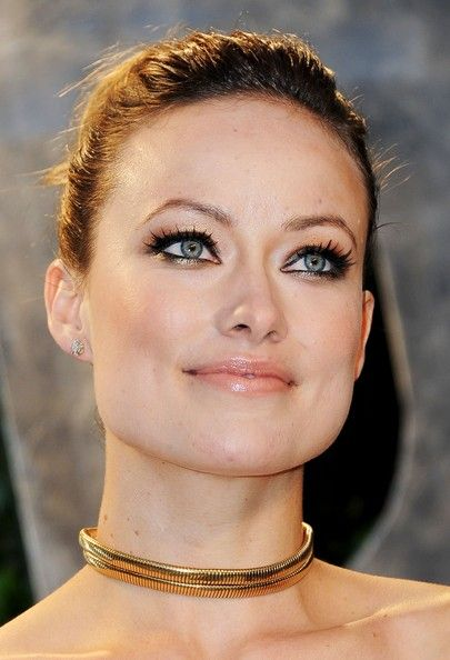 Olivia Wilde Beauty metallic eye shadow at the 2012 Vanity Fair Oscar Party