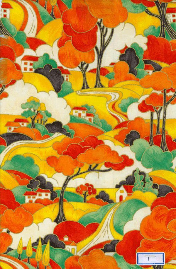 Clarice Cliff fabric.