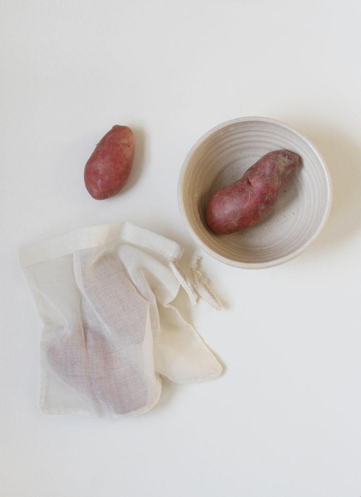 Reusable Fabric Produce Bags (set of 3) $15