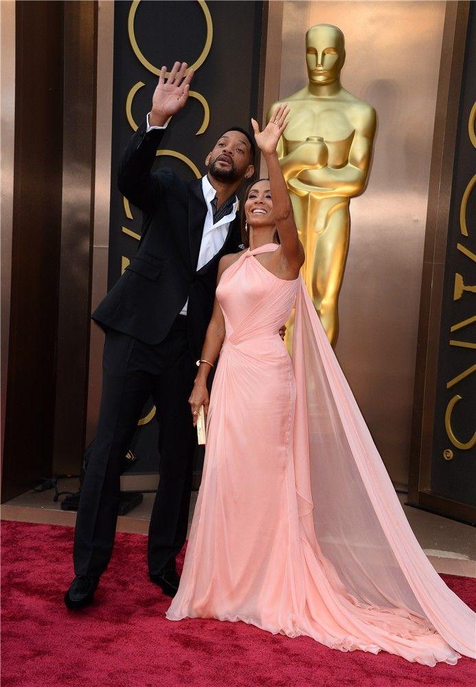 Las parejas de la alfombra roja de los Premios Oscar 2014: Will Smith y Jada Pinkett