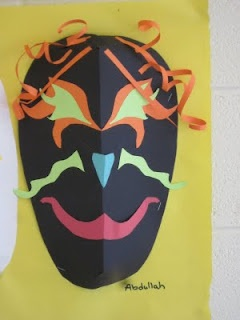 Teaching symmetry Lines, Dots, and Doodles: Paper Masks, 5th Grade