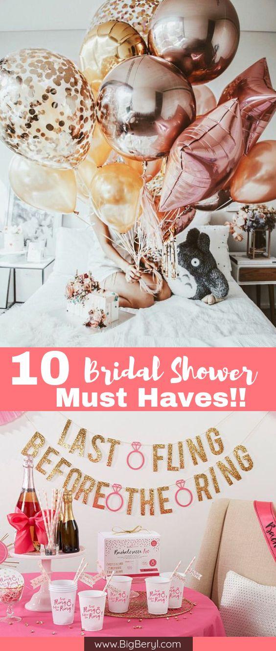 Fancy Bridal Shower Bachelorette Party Decorations
