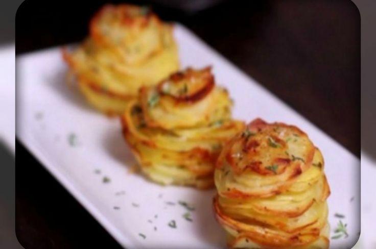 Potatoes with Parmesan and thyme. Картофель с пармезаном и тимьяном.