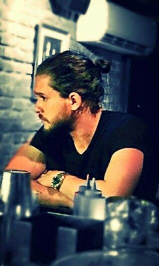 I don't normally fancy a man with a bun...But, I mean he does wear it well