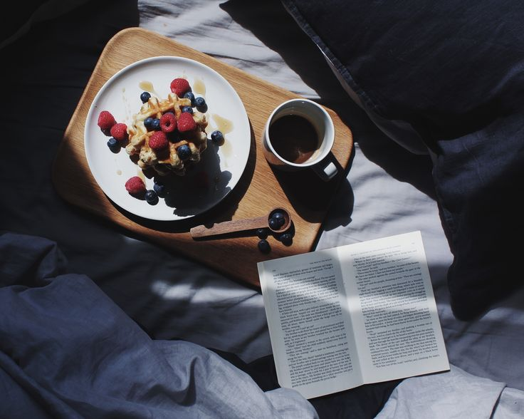 Moody mornings, fresher with waffles, berries and tea - served on Barber and Osgerby's Olio collection wooden serving board by Royal Doulton
