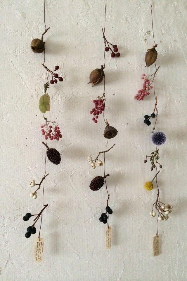 花と木の実 モービル ロング | iichi(いいち)| ハンドメイド・クラフト・手仕事品の販売・購入                                                                                                                                                                                 もっと見る