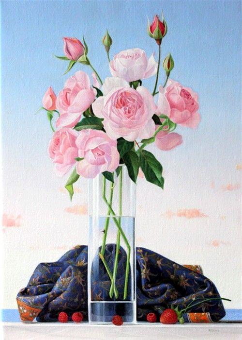 James Aponovich (b.1948) —  Seaside Roses, 2011