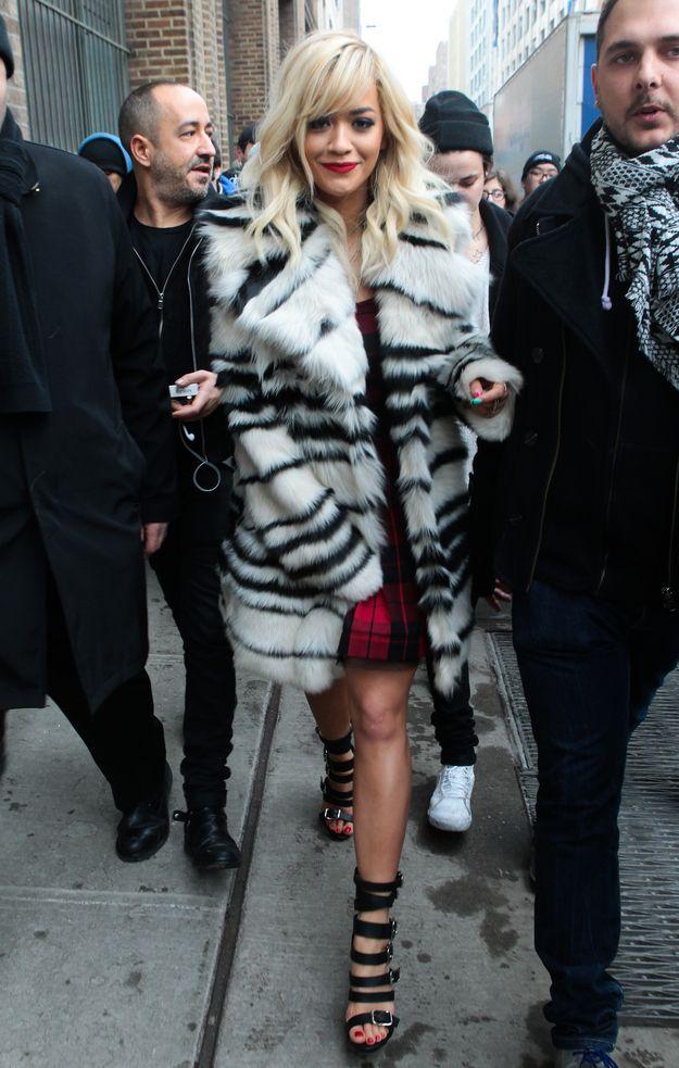 Rita Ora At The DKNY Spring 2014 Fashion Show