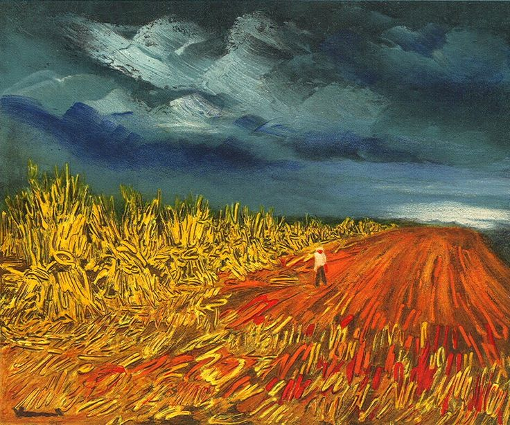 Maurice de Vlaminck, 'The Harvest' (1945) || French Fauvist(prominent) (1876 – 1958)