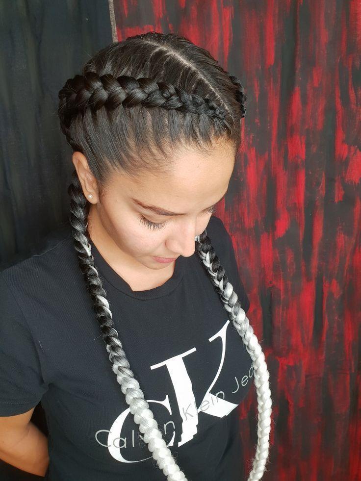 Extensions Braids White Braid In Hair Extensions Braided Hairstyles Hair Styles