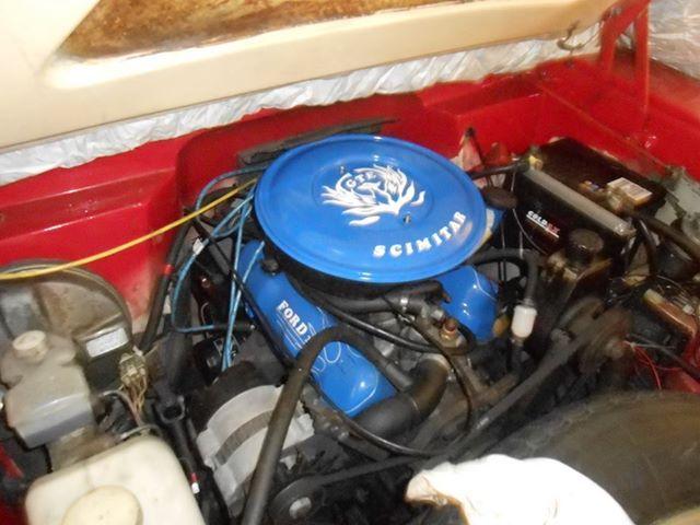 Reliant Scimitar GTE se6b 1983, motor Ford v6 2,8L