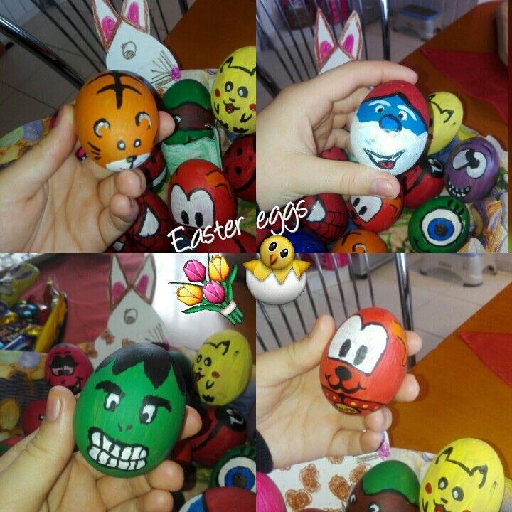Easter eggs / Hulk / Tiger / Pluto / The Smurf 🐣🐰🎈