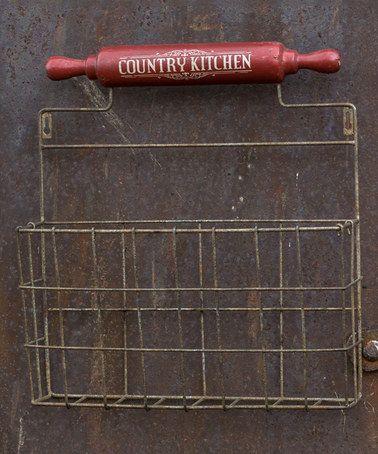 Look at this #zulilyfind! 'Country Kitchen' Iron Wall Basket #zulilyfinds