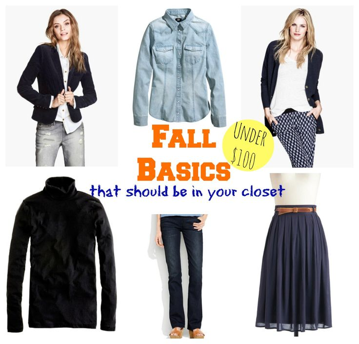 Fall wardrobe basics that should in your closet.
