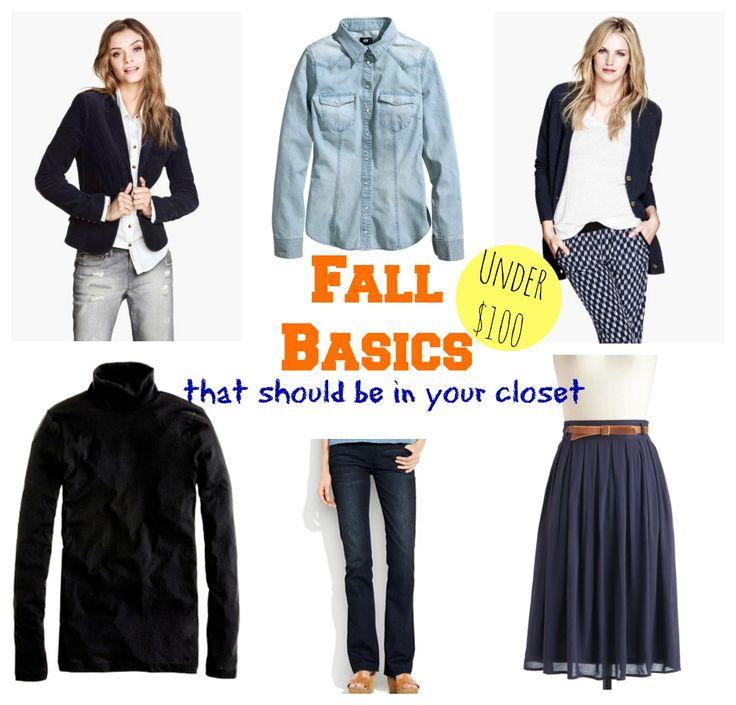 Fall Wardrobe Basics Every Woman Should Own