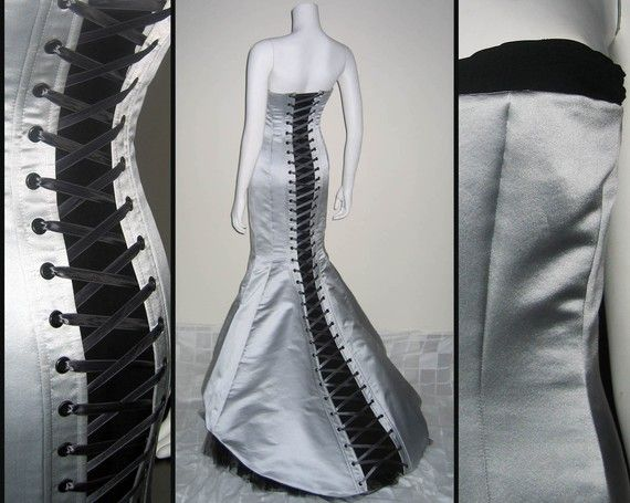 Corseted Wedding Gown by MoruaDesigns on Etsy