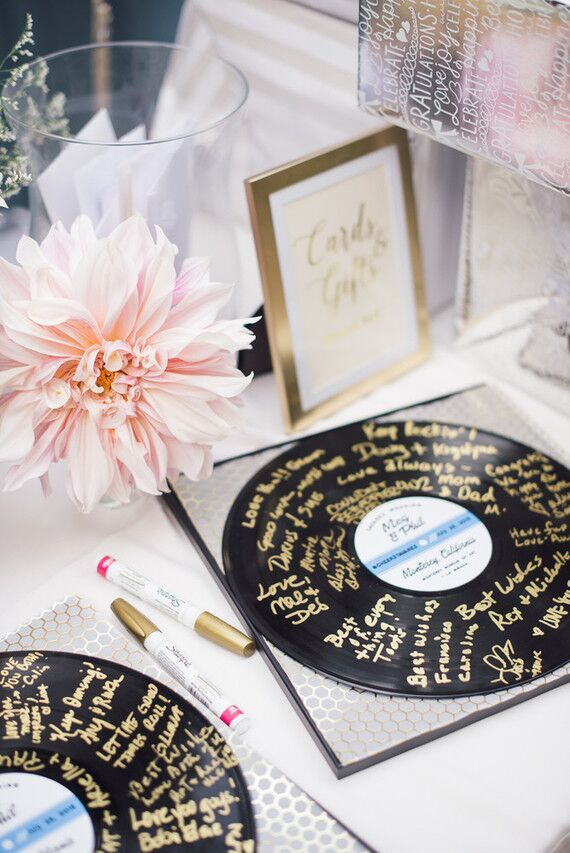 Vinyl Wedding Inspiration- Record Store Day- record decor and design